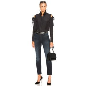MOTHER High Rise Rascal Ankle Snippet Jeans 25